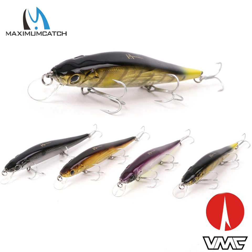 Maximumcatch 1 Pcs Crank Bait Fishing Lures With VMC Hooks Minnow Bass Fishing Lures Artificial Bait