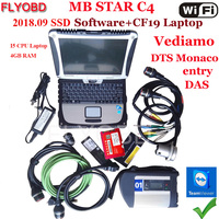 A++Quality MB Star C4 with 12/2018V Software SSD on Laptop CF19 i5 CPU for MB SD Connect C4 Star Diagnostic Tool Ready to Use