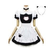 Halloween Maid Kostiumy Kobiet Dorosłych Kotów Otwarty Hollow Łapa Kota Kostium Garnitur Lolita Kostiumy Cosplay Kostium Dla Kobiet Dziewczyna