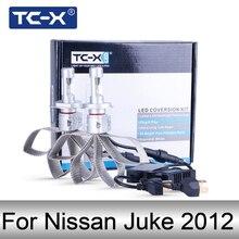 TC-X 1 пара led лампы для авто H4 ближний дальний led Н4 для Ниссан Джук 2012 LED Н4 светодиодные лампы для авто с обманкой 12В Luxeon ZES 6500K