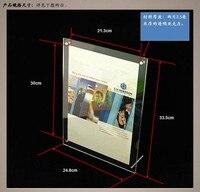 C19 Rettangolare in acrilico photo frame acrilico cornice pubblicità prodotto a4 photo frame