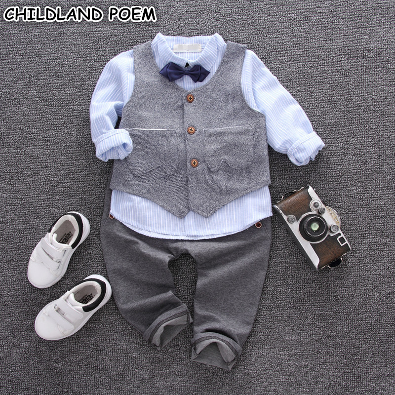 Baby Boys Clothing Set Spring Formal Newborn Toddler Clothes Suits Baby Boys Outfits for 1 Year Birthday Party Wedding Clothes baby girl clothes sets infant clothing suits toddler girl birthday outfits tutu one year set baby product gift for newborn bebes