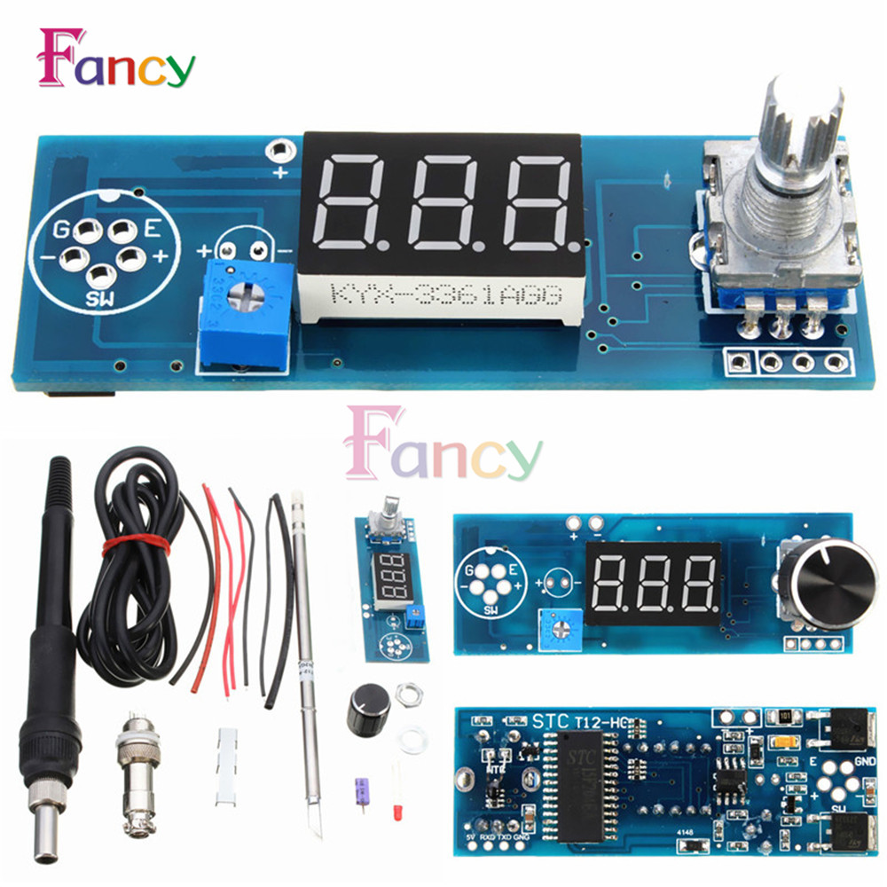 Soldering Iron Station Temperature Controller Digital Kits for HAKKO T12 Handle electric unit digital soldering iron station temperature controller board for hakko t12 handle diy kits w led vibration switch