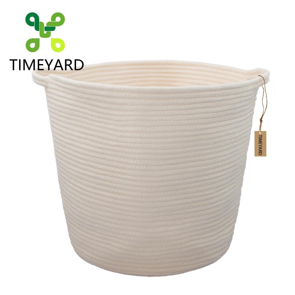 TIMETARD katoenen touw opslagmand Hoge kwaliteit multifunctionele - Home opslag en organisatie