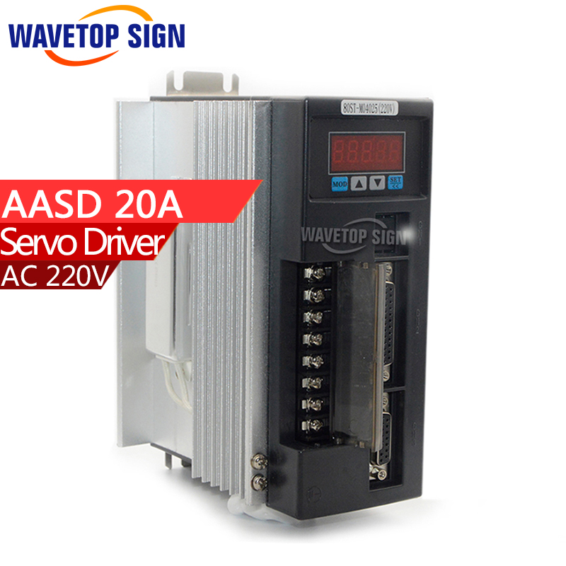 AC motor servo driver   AASD- 20A-v6.2  controller ASD 20A version 6.2   220v 50-60HZ 4N.M  1000W dcs810 leadshine digital dc brush servo drive servo amplifier servo motor controller up to 80vdc 20a new original