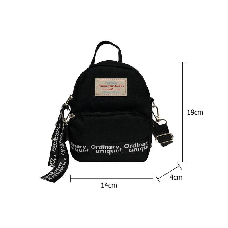 HTB1iyO XfvsK1RjSspdq6AZepXaM Multi-Use Teenage Girls Mini Backpack Nylon Letter Print Shoulder Crossbody Bags Casual Women Backpack Mochilas Mujer