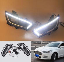 Free Shipping1:1Replacement Daytime running light LED Daytime Running Light DRL fog lamp cover for Ford Mondeo Fusion 2013 2014