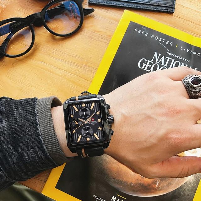 NAVIFORCE 男性ファッションクリエイティブ腕時計スポーツ腕時計トップブランド防水レザーストラップ時計男性レロジオの Masculino