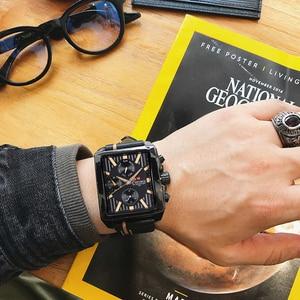 Image 1 - NAVIFORCE Men Fashion Creative Quartz Wrist Watch Sports Watches Top Brand Waterproof Leather Strap Clock Male Relogio Masculino