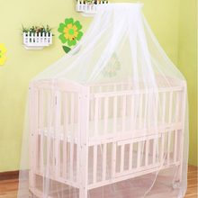 Summer Baby Bed Cradle Hung Dome Mosquito Net Toddler Newborn Infant Bedding Tents Princess Mesh Kids Portable Crib Solid White(China)