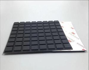 Image 2 - 13*3 milímetros praça transparente anti skid Anti colisão de partículas de silicone ESTEIRAS Protetoras 3 cola 3M auto  adesivo para a cadeira de Mobiliário