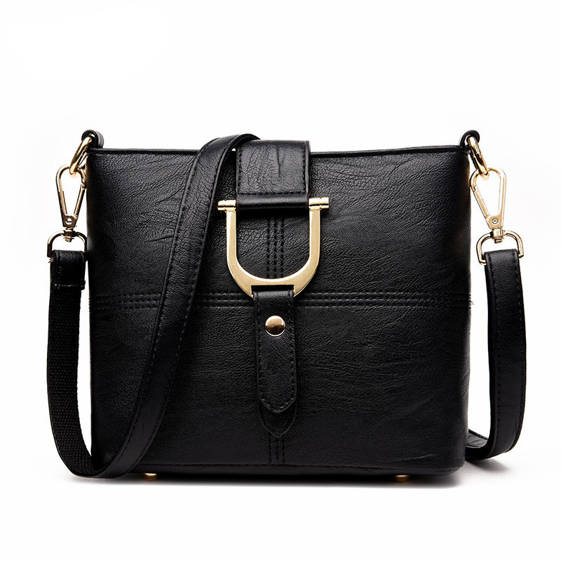 Handbags Women Famous Brand Fashion Solid Shouder Bag Leather Messenger Bag Small Black Shoulder Bags Tote Bag women shoulder bags leather handbags shell crossbody bag brand design small single messenger bolsa tote sweet fashion style