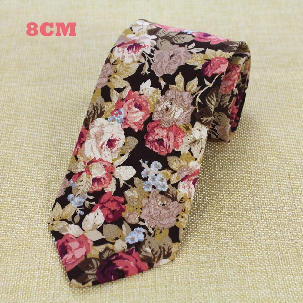 RBOCOTT New Design 8 cm Baumwolle Krawatten Für Männer Paisley - Bekleidungszubehör - Foto 5