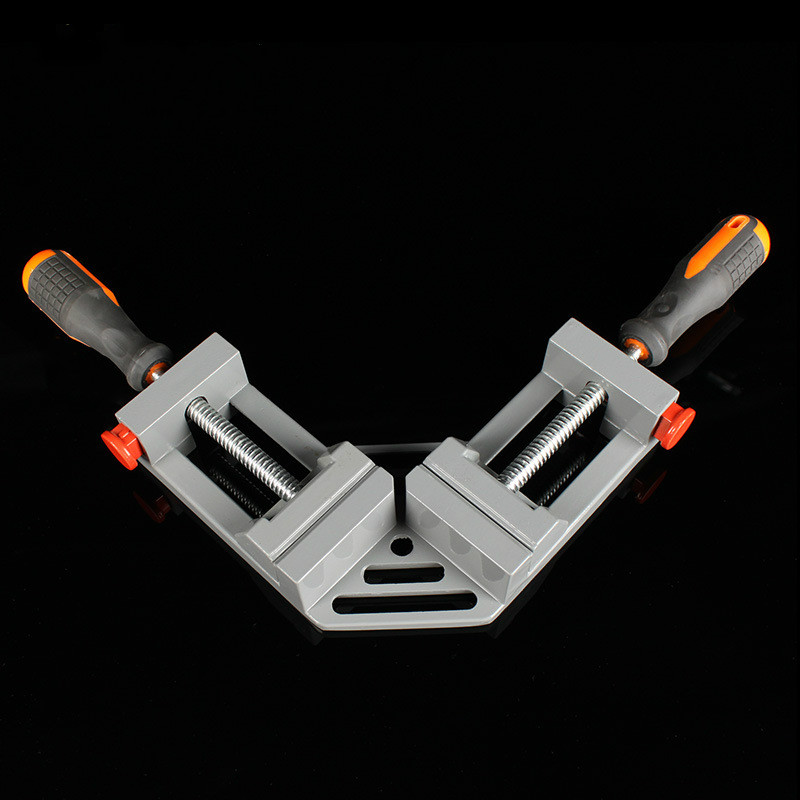 цена на 1PCS Free Shipping Double Handle 90 Degree Angle Clip Woodworking Jigs Fast Type Aluminum Quick Release Corner Clamp Frame Clip