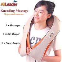 Hecho En China Productos de Salud Almohada de Masaje de Calefacción, en Forma de U Eléctrico Shiatsu Espalda Cuello Hombro Masajeador Corporal Uso Casero Del Coche