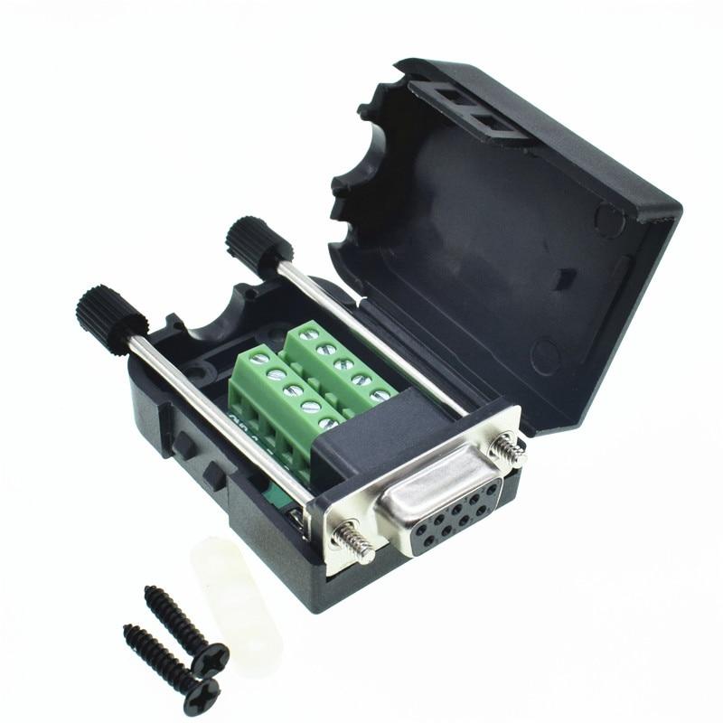 Db9 conector com terminal de solda sem transferência db9 conector macho rs232 db9 breakout D-SUB conector fêmea