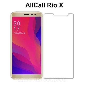 Перейти на Алиэкспресс и купить Чехол AllCall Rio X из закаленного стекла 2.5D 9H Защитная пленка для мобильного телефона защитная пленка для экрана AllCall Rio X