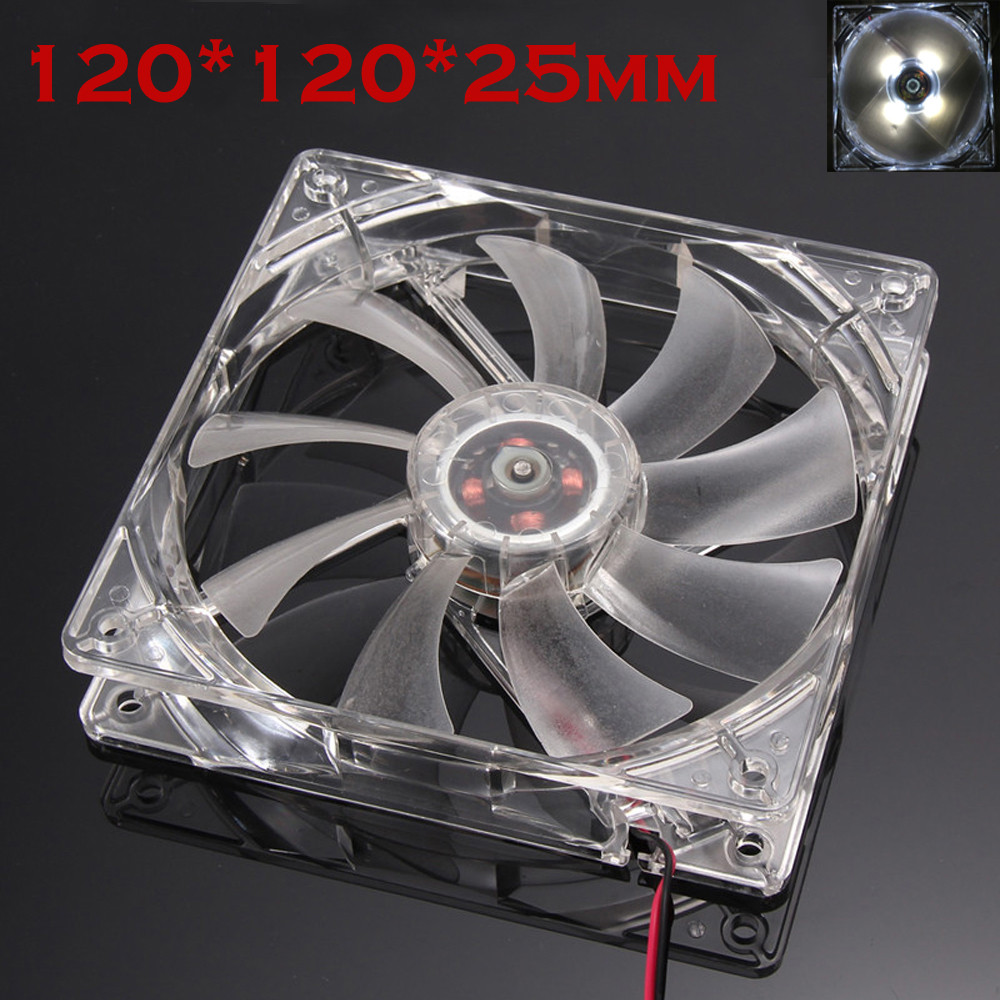 Quiet 12cm pc cpu cooler 120 mm fan 12V Computer/PC/CPU Silent Cooling Fan For Radiator Mod for video card thermal pad wholesale computer radiator cooler of vga graphics card with cooling fan heatsink for evga gt440 430 gt620 gt630 video card cooling
