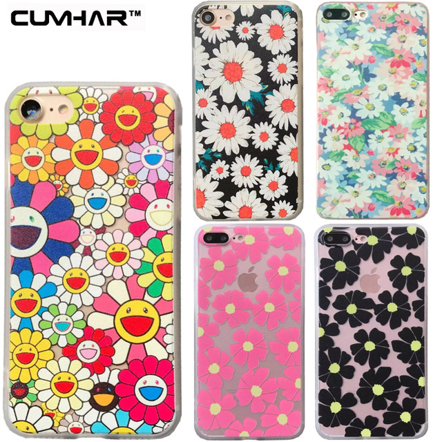 the best attitude 47591 19505 US $4.25 |Color Flower Small Art Floral Print Pink Black Shy Girl Classic  Cute Simple Phone Back Cover Case for iPhone 5 5S SE 6 6S 7 Plus-in ...