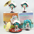 1 set 4pcs/set Cute Nendoroid Snow Miku Strawberry White Kimono Ver. Hatsune Miku PVC Figure Toys