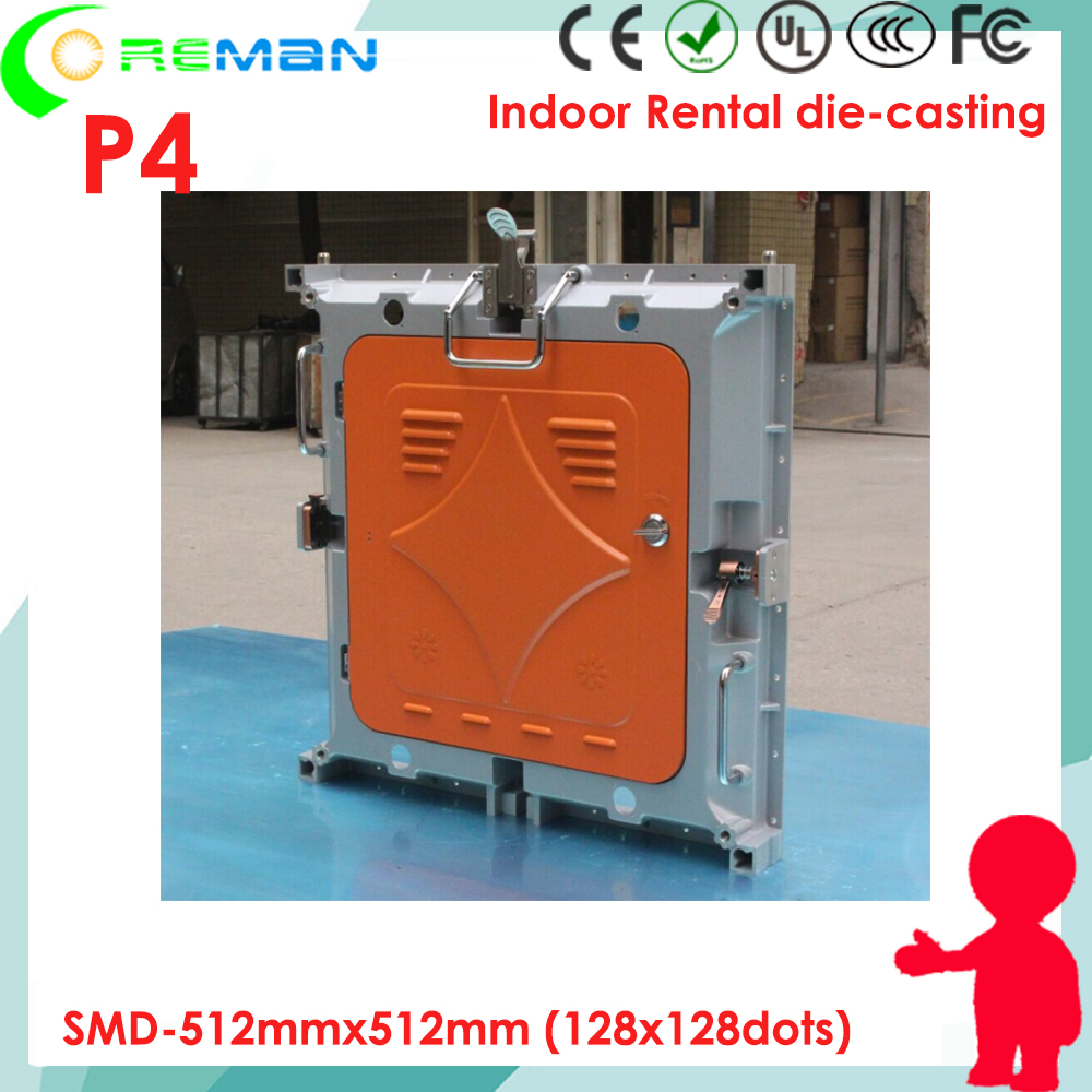Indoor interior smd2121 p4 led video panel empty die casting cabinet indoor led tv panels