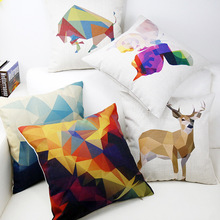 Northern Europe Style Geometric Abstraction Pillow Sofa Pillow Office Pillow Car Cushion Bed Cushion 45cm X 45cm Hot Sale