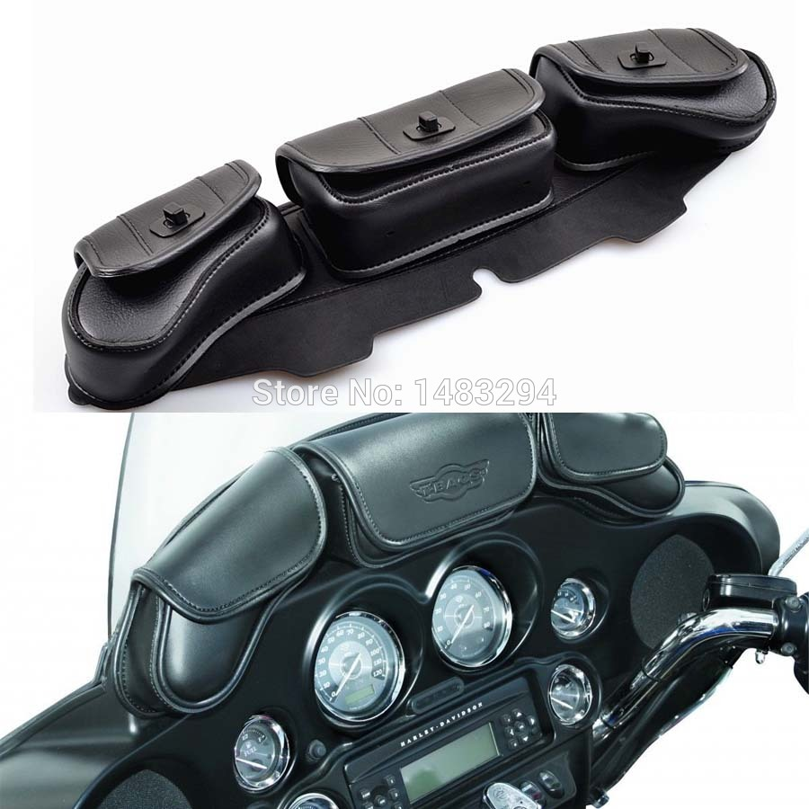 NEW DETACHABLE WINDSHIELD BAG SADDLEMEN FAIRING POUCH FITS fits for HARLEY BAGGERS FLH FLT mimco hairleather tote with detachable mid pouch