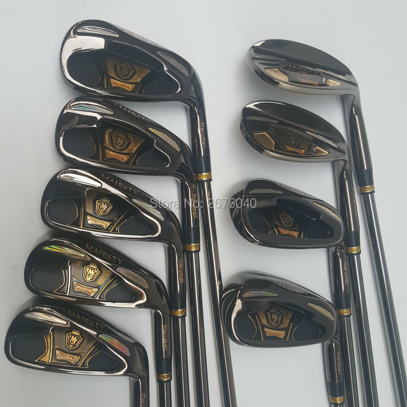 MARUMAN MAJESTY Golf Clubs set 4-9P.A.S Golf irons clubs Graphite Golf shaft R or stiff flex irons clubs Free shipping cooyute new mens golf clubs katana voltio iii golf irons set 7 9 p a s club irons with graphite golf shaft r flex free shipping