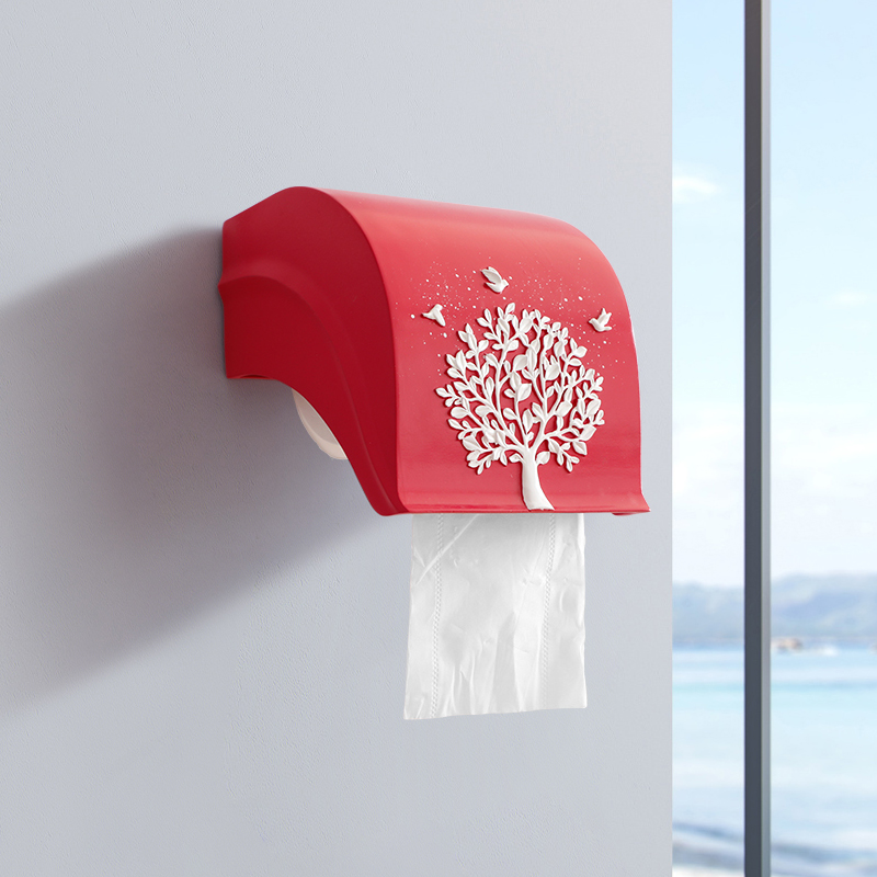 Resin Tissue Box decor on wall  Hanging tissue roll box organizer Paper holder hanging Kitchen Holder