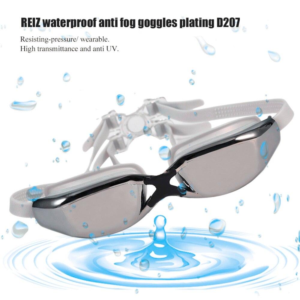 REIZ D207 Ajustable A Prueba de Agua Anti-Niebla Protección UV Gafas de Natación