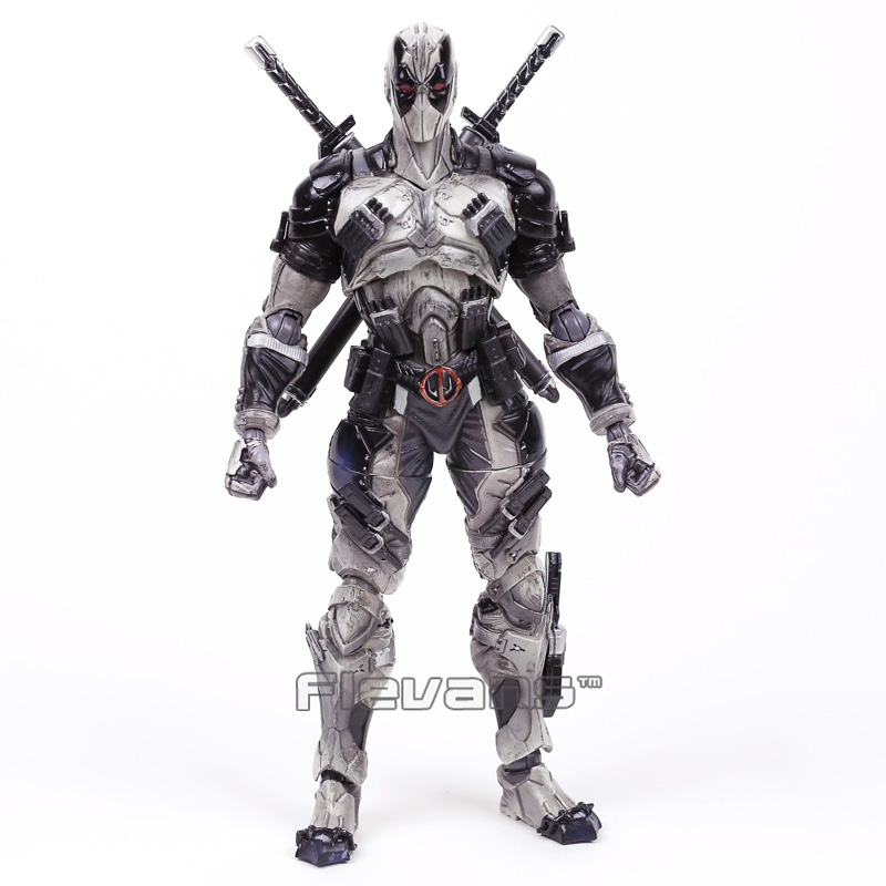 Marvel Universe VARIANT PLAY ARTS KAI Deadpool Gray Ver.PVC Action Figure Collectible Model Toy 25cm neca epic marvel deadpool ultimate collectible 1 4 scale action figure model toy 16 45cm ems free shipping