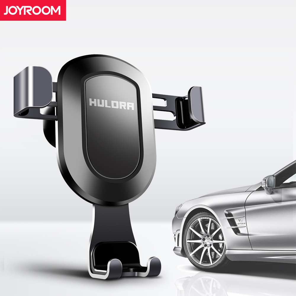 joyroom Gravity Car Mobile phone holder Clip type air vent monut GPS Metal car phone holder for iPhone 8 7 6s Plus X Samsung S8