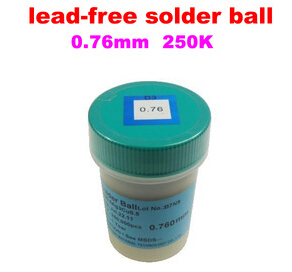 1PCS PMTC 250K 0.76mm lead free lead-free solder ball for bga chip reballing ,high quality монитор 21 5 aoc i2269vwm