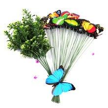 10pcs/lot Garden Stick Butterflies Colorful Creative Flower Pot Decor Garden Decoration Butterfly Garden Beautiful Ornaments