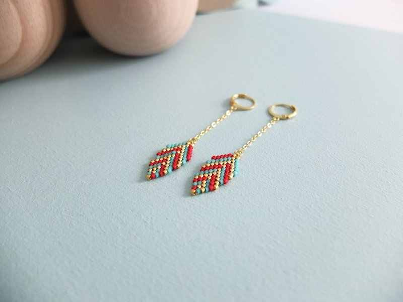 Shinus 10 Pairs/lot MIYUKI Earrings Boho Chic Drop Earrings Insta Fashion Leaf Dangler 2019 Summer Bijoux Miyuki Delica Handmade