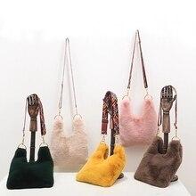 купить 2018 New Furry Bag Faux Fox Fur Bag по цене 1693.41 рублей