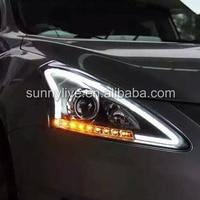 Для Nissan Tiida для Nissan Pulsar C12 светодиодный налобный фонарь Ангельские глазки 2011 2015