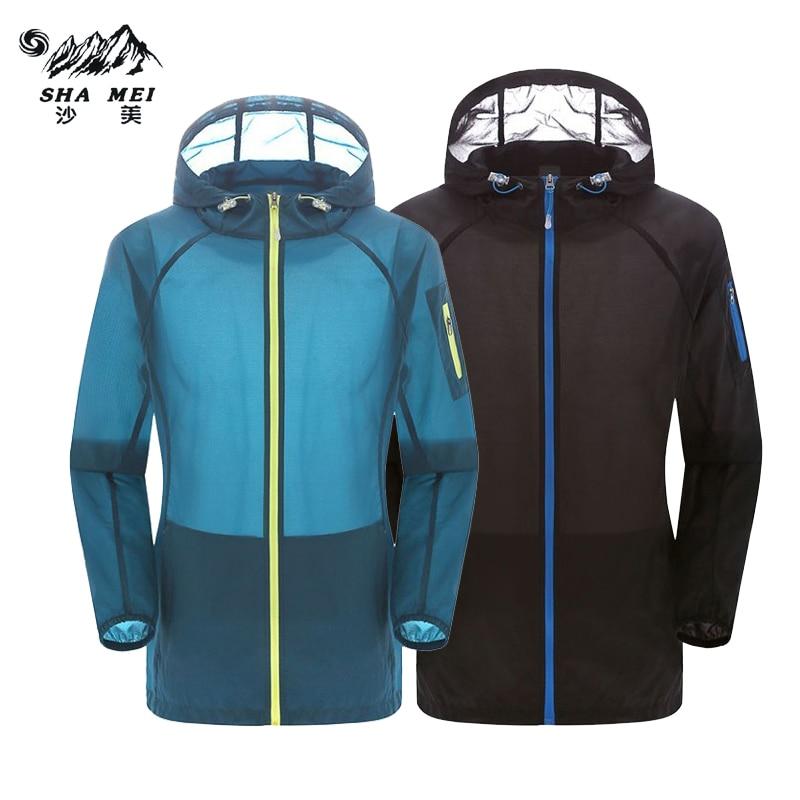 2017 Primavera Estate Outdoor Quick-dry Escursionismo Camping Giacche Sport Sottile Giacca a vento nuova Protezione solare Movimento Coat