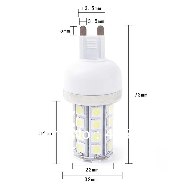 G9 7W 85-265V SMD5050 36LED energy saving high bright White Corn Light free drop shipping