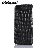 Real Genuine Leather Case For IPhone 7 Plus Case Cell Phone Luxury 3D Crocodile Back Skin