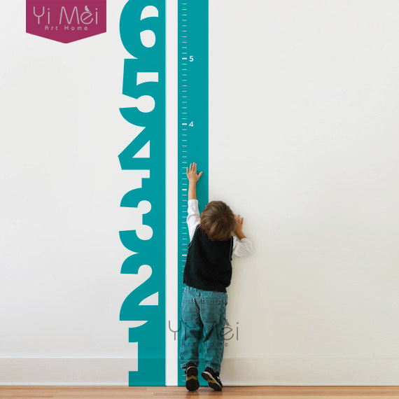 Home Decoration Growth Chart Numbers Wallpaper Children's Vinyl Decal baby room decorating Children's Room 42*183CM Wall Sticker