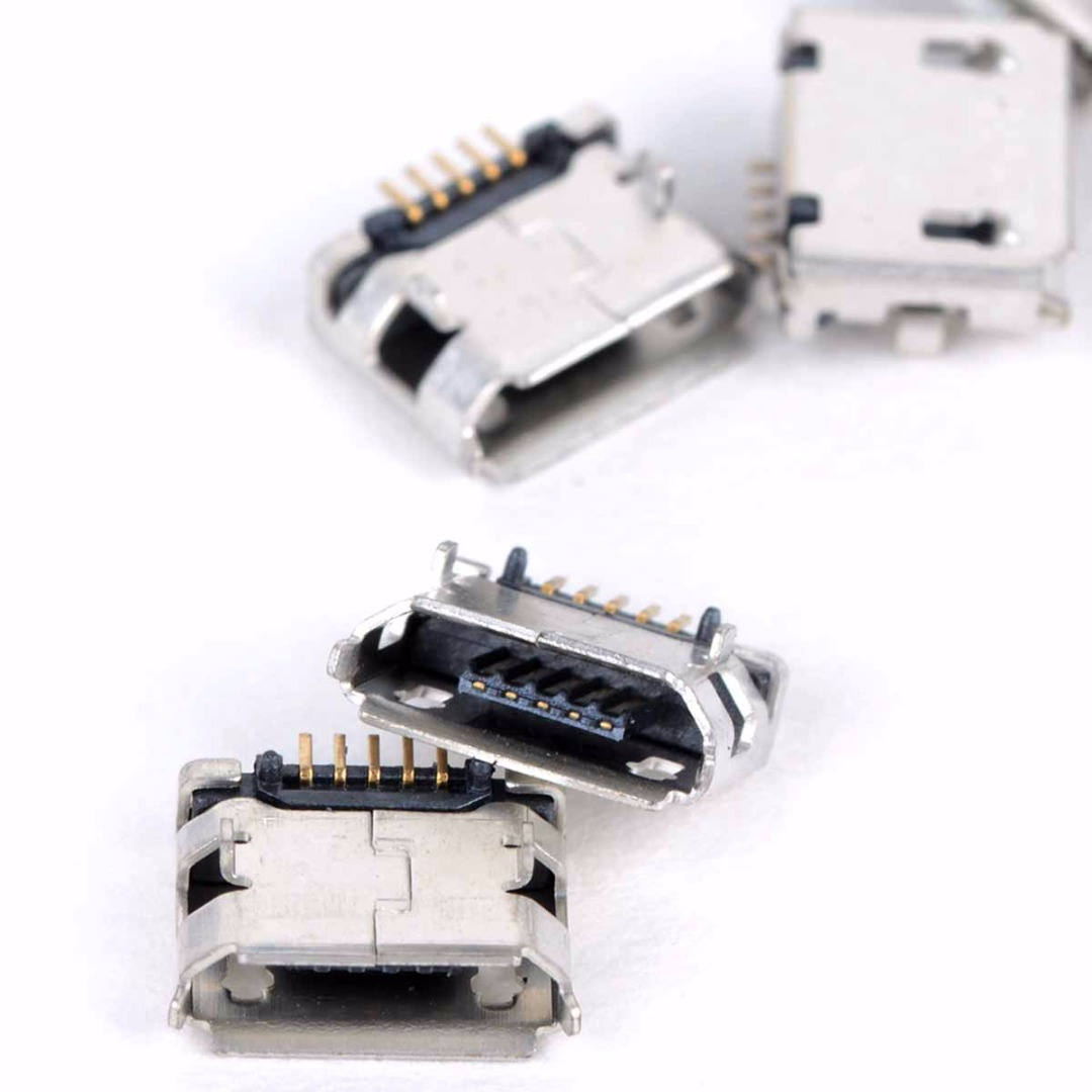 20pcs High Quality Micro USB Type B Female 5 Pin SMT Placement SMD DIP Socket Connector Plug Adapter 10pcs high quality usb 2 0 4pin a type