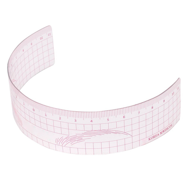 1PC Reusable Semi Permanent Eyebrow Ruler Eye Brow Measure Tool Eyebrow Guide Ruler Plastic Eyebrow Calliper Stencil Makeup 2
