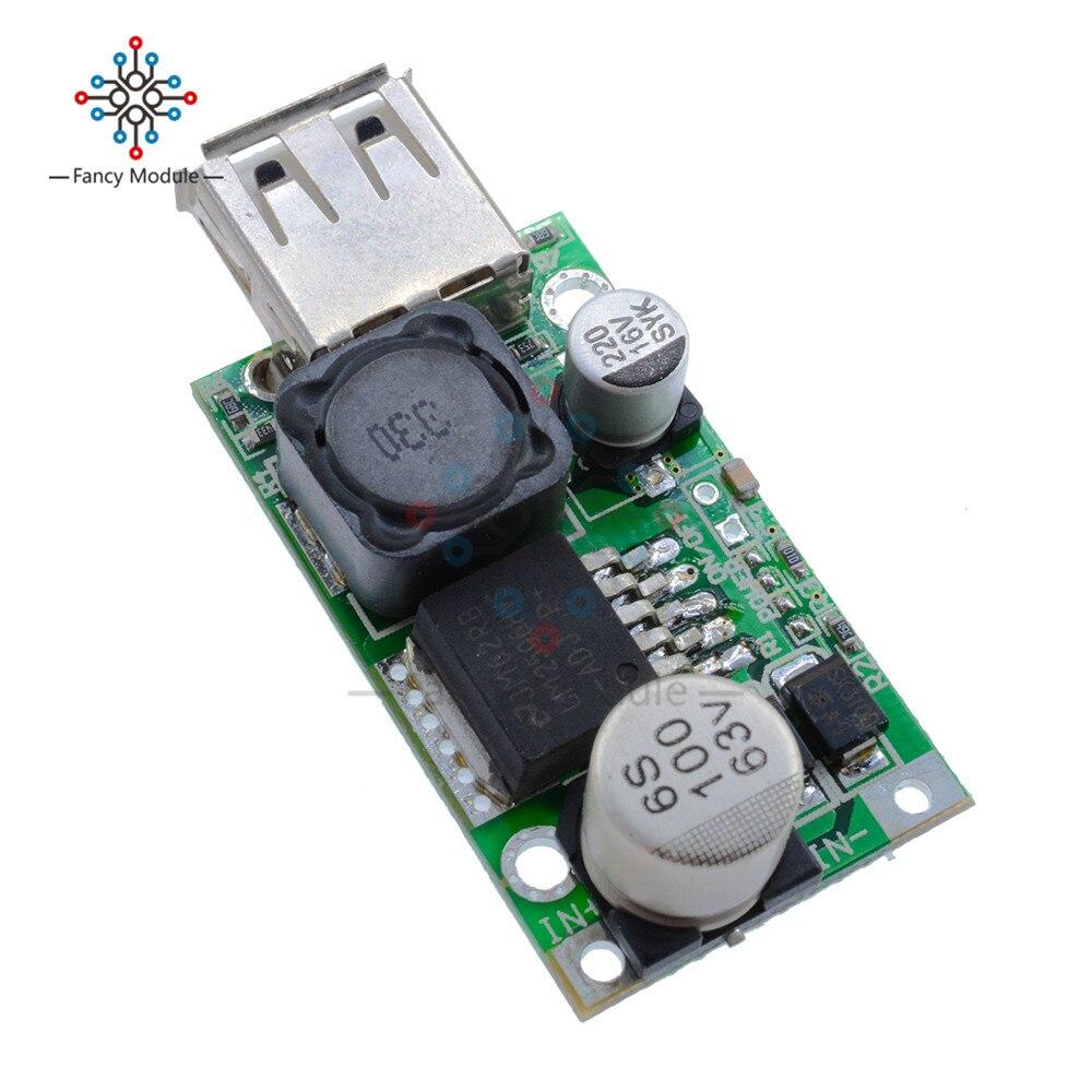 LM2596HV S CC CV USB Charger 12V//24V//36V//48V//60V to 5V 3A Buck Step Down Module