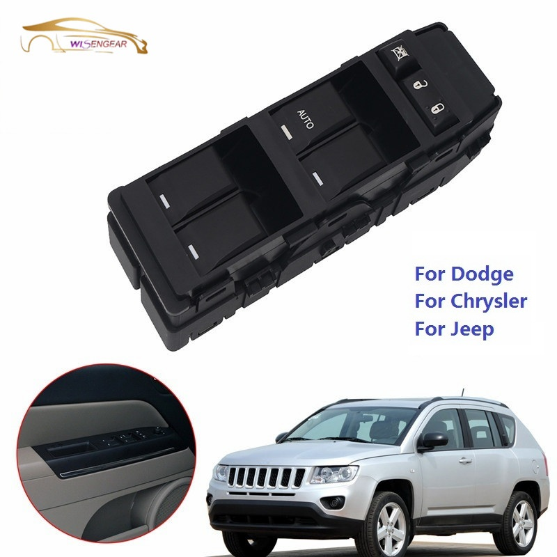 Wisengear Electric Window Switch For Jeep Compass Patriot Grand Cherokee For Dodge Avenger For