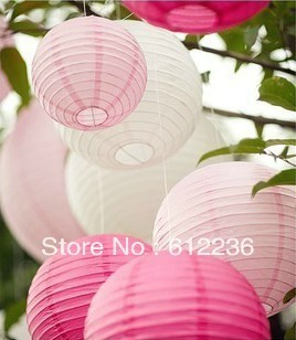 Small lantern 20cm wedding paper lantern Japanese style Lamp cover pendant DIY lampshade 11 colors for choose