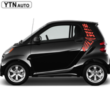 2pc cool tire print styling graphic vinyls car stickers customize for smart mini 2 doors sticke