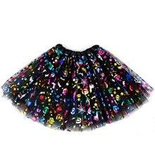 Tutu Dress For Adults Women Girls Halloween Skull Pumpkin Print Pattern Princess Skirts Kids Children Party Cosplay Costumes
