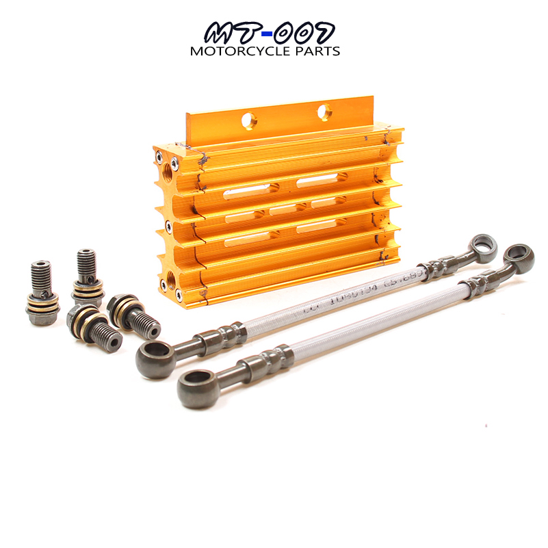5 Colors CNC Motorcycle Oil Cooler Kit Radiator Cooling For ATV Pit Dirt Bike motocross motocycle 50CC-125CC