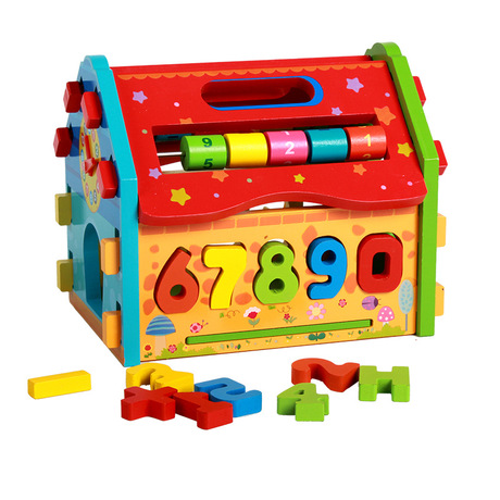 Model Building Kits new geometry dismantling houses Wooden home toys children's educational Models Building Toys whole sale 2017
